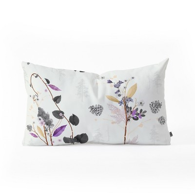 Iveta Abolina Woodland Dream Lumbar Throw Pillow White - Deny Designs