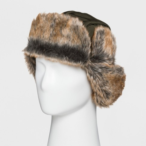 Men s Trapper Hat - Goodfellow   Co™ Green One Size   Target fef56ef8c9e
