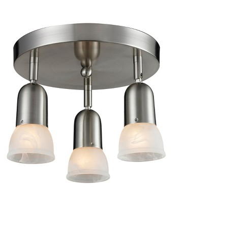 Semi Flush Mount Ceiling Lights with White Swirl Glass (Set of 3) - Z-Lite - image 1 of 1