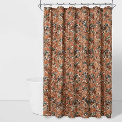 Daisy Vine Printed Shower Curtain Brown - Threshold™