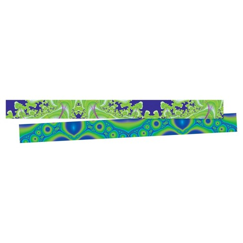 Barker Creek® Bulletin Board Double-Sided Border -Fractals - image 1 of 4