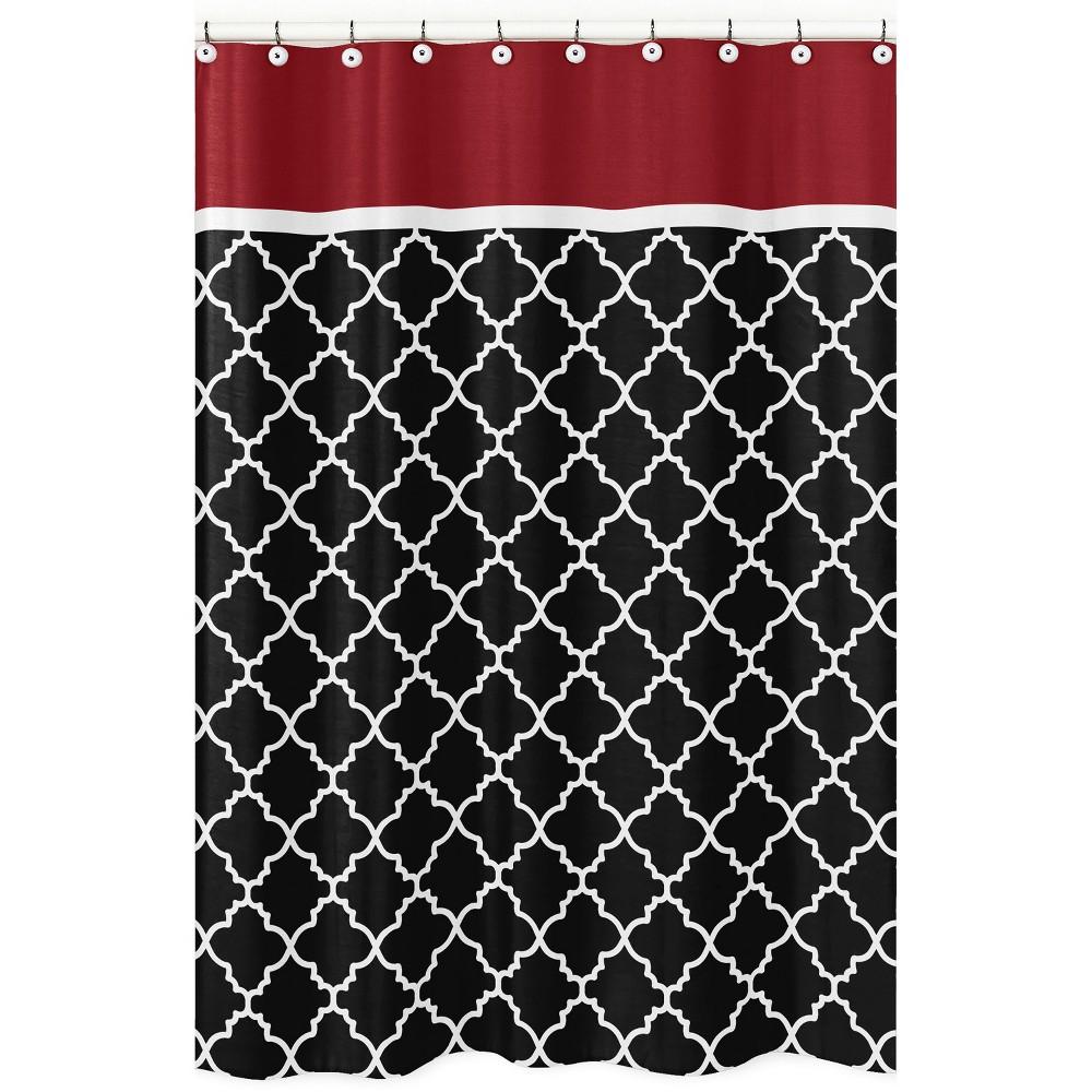 Trellis Shower Curtain Red/Black - Sweet Jojo Designs
