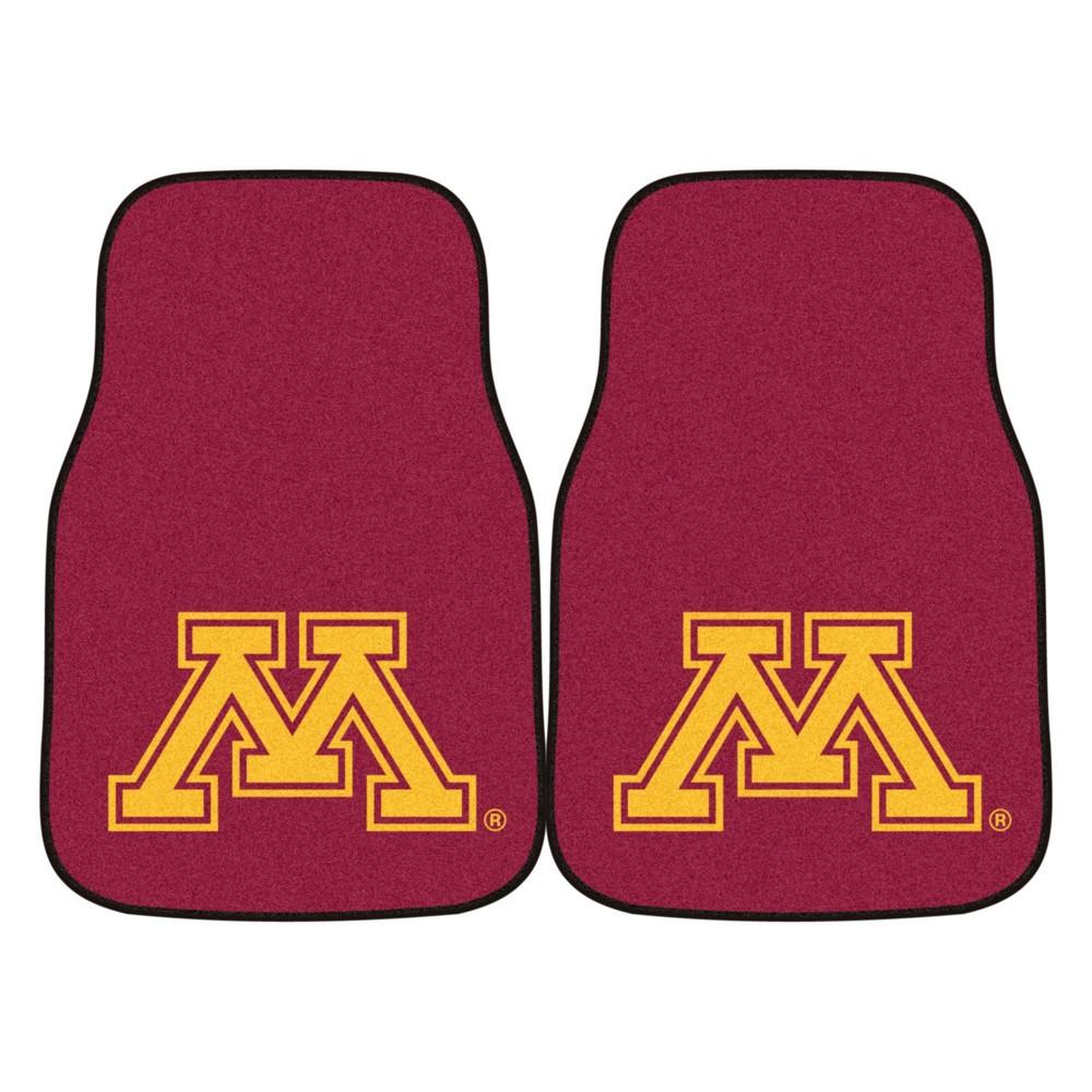 Ncaa University Of Minnesota Golden Gophers Carpet Car Mat Set 2pc