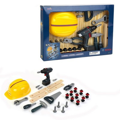Theo Klein Bosch DIY Construction Premium Toy Toolset Bundle with Bosch Safety Accessories Construction Toy Set For Kids 3 Years and Up