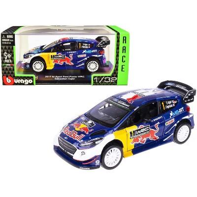 "2017 Ford Fiesta M-Sport WRC #1 Sebastien Ogier - Julien Ingrassia ""Red Bull"" ""Race Car"" Series 1/32 Diecast Model Car by Bburago"