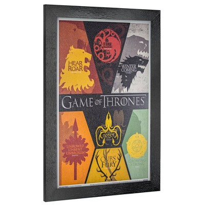 Licensed Game of Thrones Siglis Wall Art Yellow/Red/Black - Crystal Art Gallery