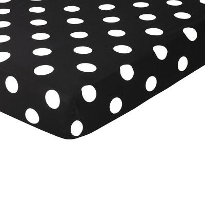 Sweet Jojo Designs Fitted Crib Sheet - Hot Dot - Polka Dot