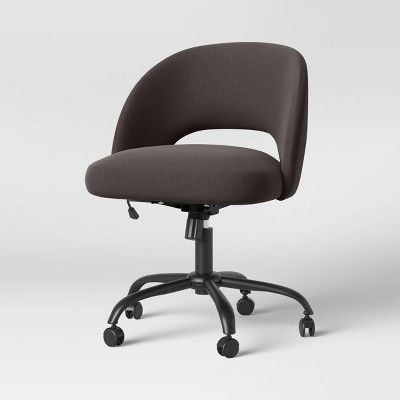 Galles Mid-Century Swivel Office Chair Dark Gray - Project 62™