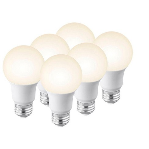 Monoprice Premium A19 LED Bulb - 3000K ( 6 Pack ) 60 Watt Equivalent, Soft White High CRI 90, 800LM Dimmable - image 1 of 4
