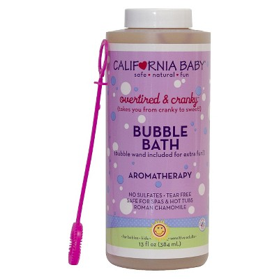 California Baby Over Tired and Cranky Bubble Bath - 13oz