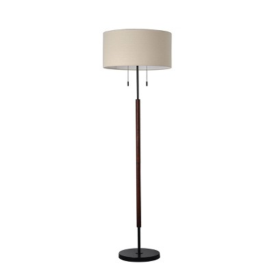 Mid-Century Floor Lamp (Includes LED Light Bulb)Black - Threshold™