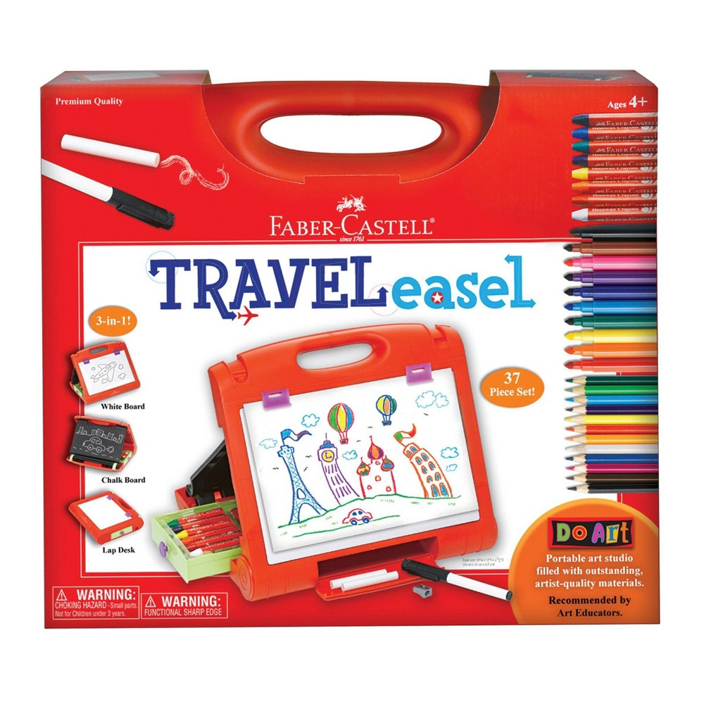 Do Art 3 In 1 Travel Easel With Art Supplies Faber Castell