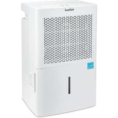 Ivation 4,500 Sq Energy Star Compressor Dehumidifier with Pump, Large Capacity for Spaces Up To 4,500 Sq Ft, Includes Programmable Humidity, Hose Connector, Auto Shutoff and Restart and Washable Filter