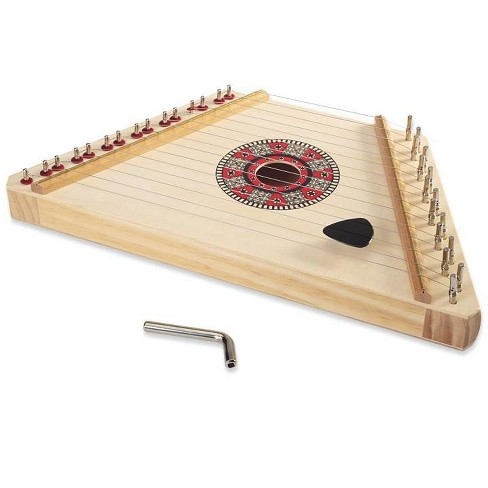 """Hardwood Lyrical Lap Harp With Tuning Wrench And Song Sheets, 11"""" X 7.75"""" - Hearthsong - image 1 of 2"""