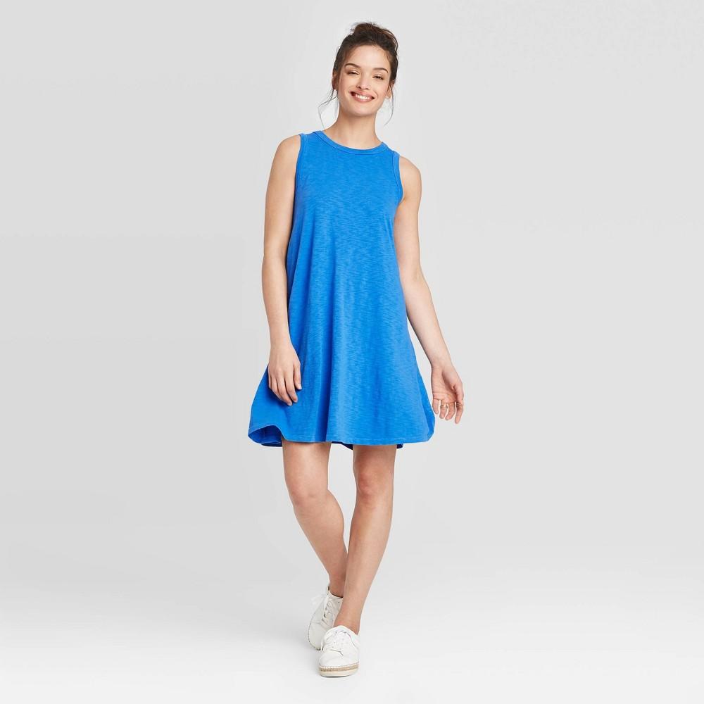 Women's Sleeveless Tank Dress - Universal Thread Blue S was $15.0 now $10.0 (33.0% off)
