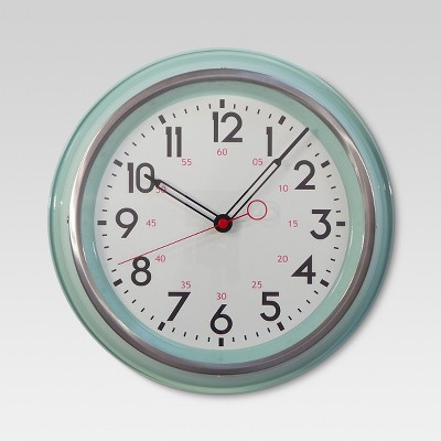 Schoolhouse 14  Wall Clock Mint - Threshold™