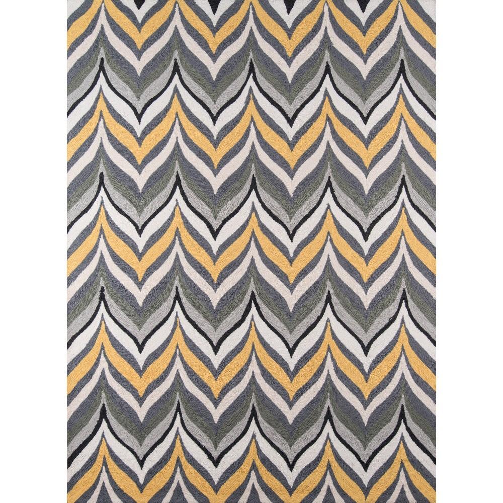 5'X7' Shapes Area Rug Gold/Gray - Momeni, Gray Yellow