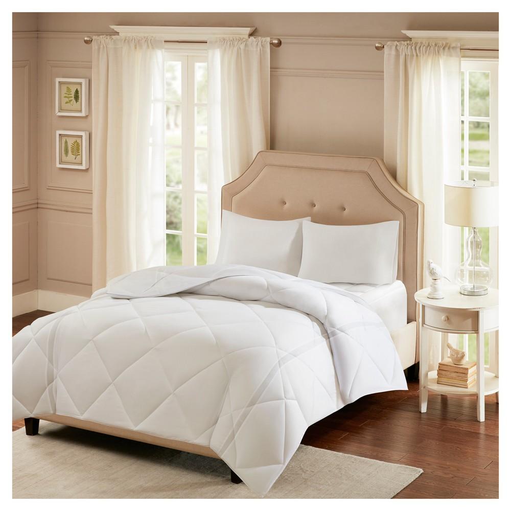 White Smart Cool Microfiber Coolmax Down Alt Comforter Twin