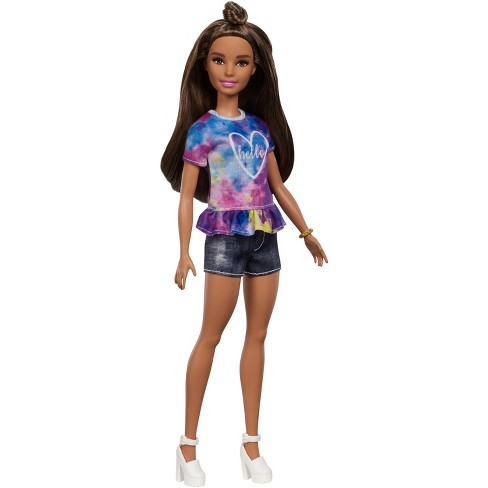 Barbie Fashionistas Doll 112 - Partial Updo with Tie-Dye Shirt - image 1 of 7