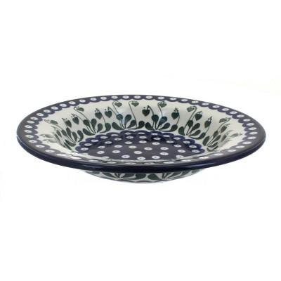 Blue Rose Polish Pottery Alyce Soup Plate