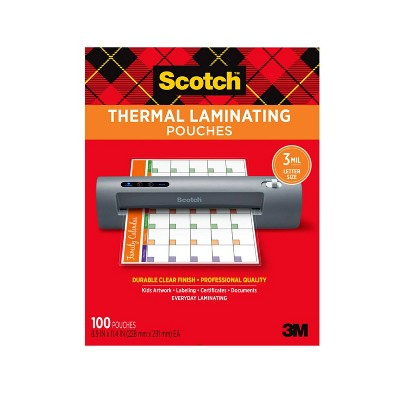 """Scotch 100ct 8.5""""x11"""" Thermal Laminating Pouches"""