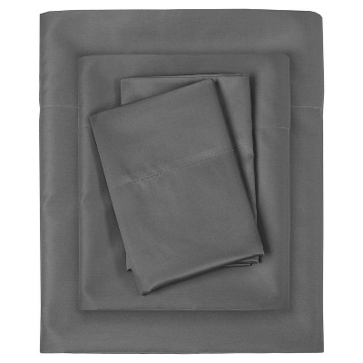 Liquid Cotton Sheet Set (Queen)Gray
