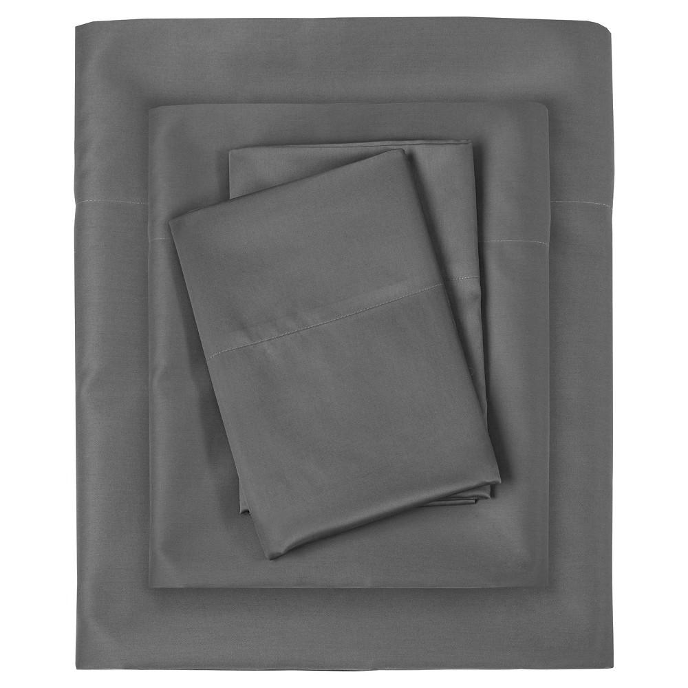 Liquid Cotton Sheet Set (Full) Gray