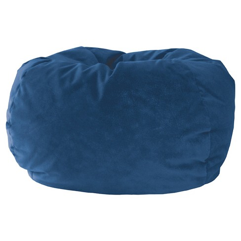 Enjoyable Gold Medal Kids Micro Fiber Suede Bean Bag Chair Blue Inzonedesignstudio Interior Chair Design Inzonedesignstudiocom