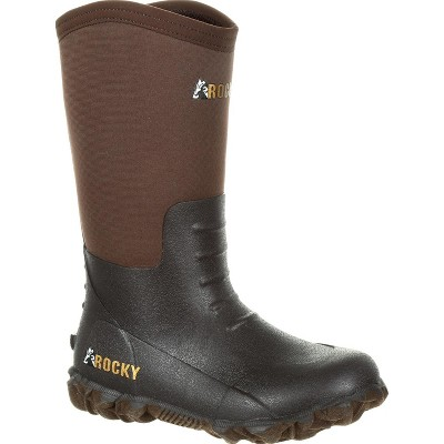 Rocky Little Kids' Core Brown Rubber Boot