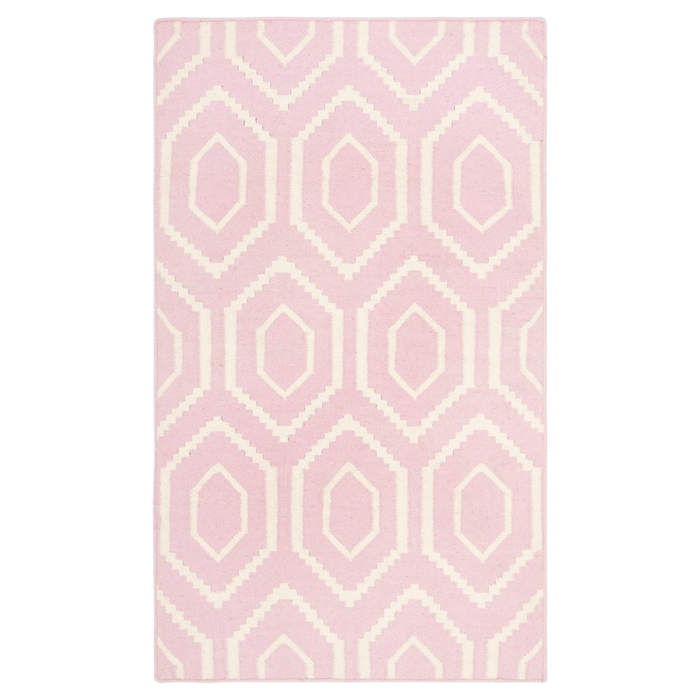 Promos Taza Dhurry Rug - Pink Ivory - (3x5) - Safavieh