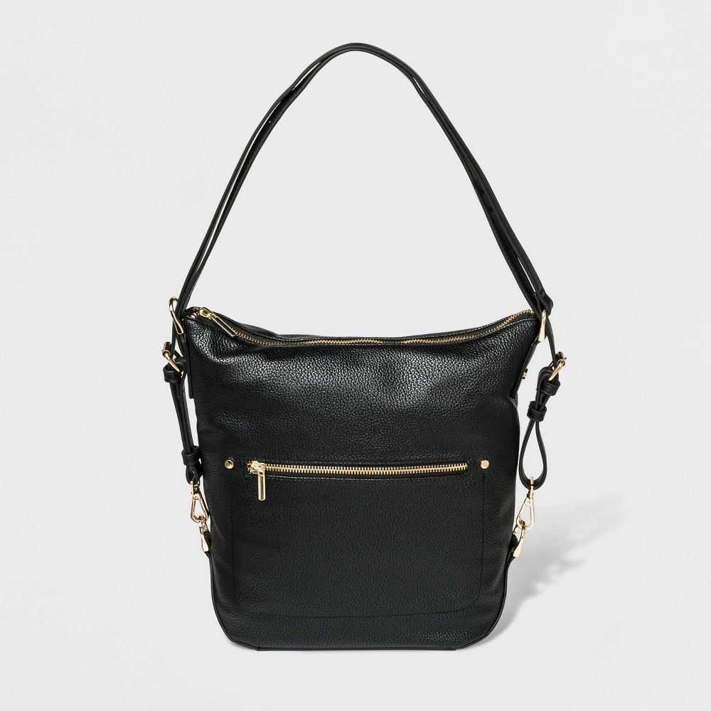Convertible Backpack Hobo Handbag - A New Day Black