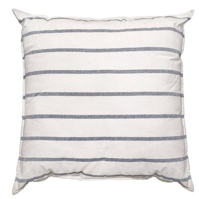 Woven Striped Oversized Square Pillow Navy/White - Threshold™