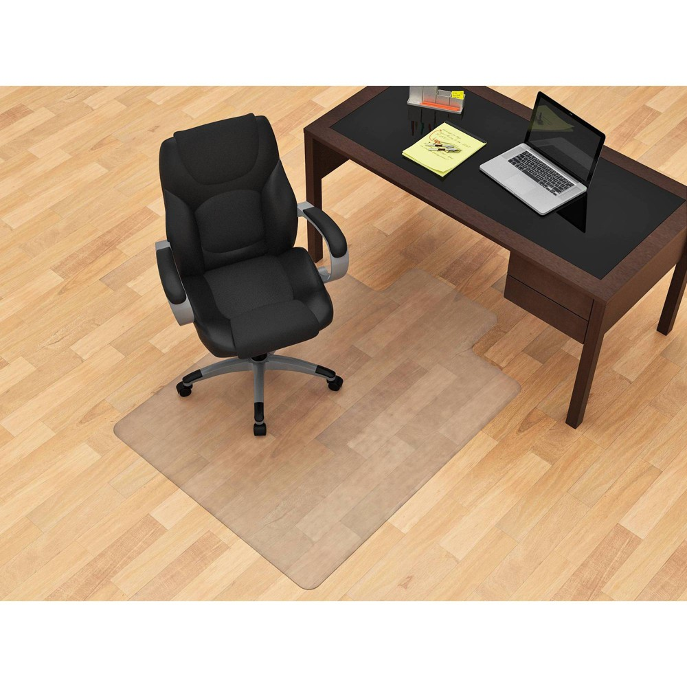 Image of 45 x 53 Flat Pile Hardfloor Chair Mat Clear - Monroe + James