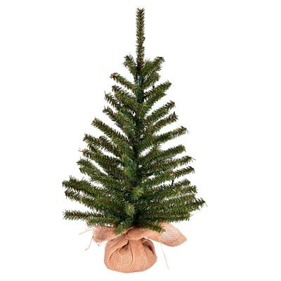 "Vickerman 24"" x 14"" Wolf Creek Pine Artificial Christmas Tree, Unlit"