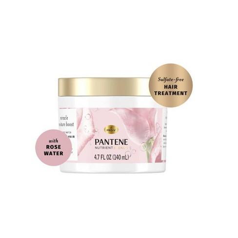 Pantene Nutrient Blends Miracle Moisture Boost Rose Water Petal Soft Hair Treatment - 4.7 fl oz - image 1 of 4