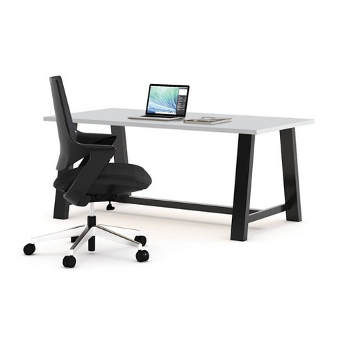 Mia Office Desk with Chair Gray /Black - Olio Designs - image 1 of 1