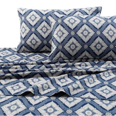 Printed Pattern Extra Deep Pocket 200 Gsm Flannel Sheet Set Tribeca Living Target