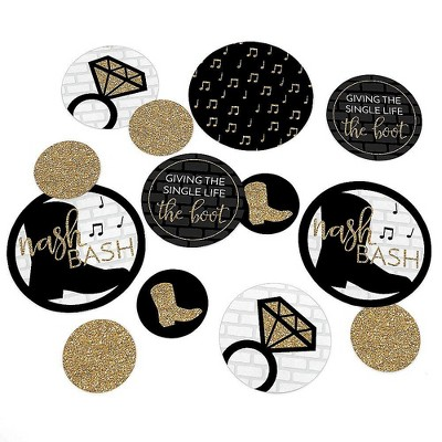 Big Dot of Happiness Nash Bash - Nashville Bachelorette Party Giant Circle Confetti - Party Decorations - Large Confetti 27 Count