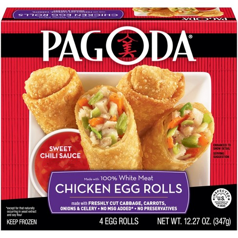 Pagoda White Meat Chicken Frozen Eggroll - 12.27oz - image 1 of 3