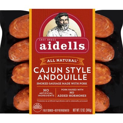 Aidells Cajun Style Andouille Smoked Pork Sausage - 12oz/4ct