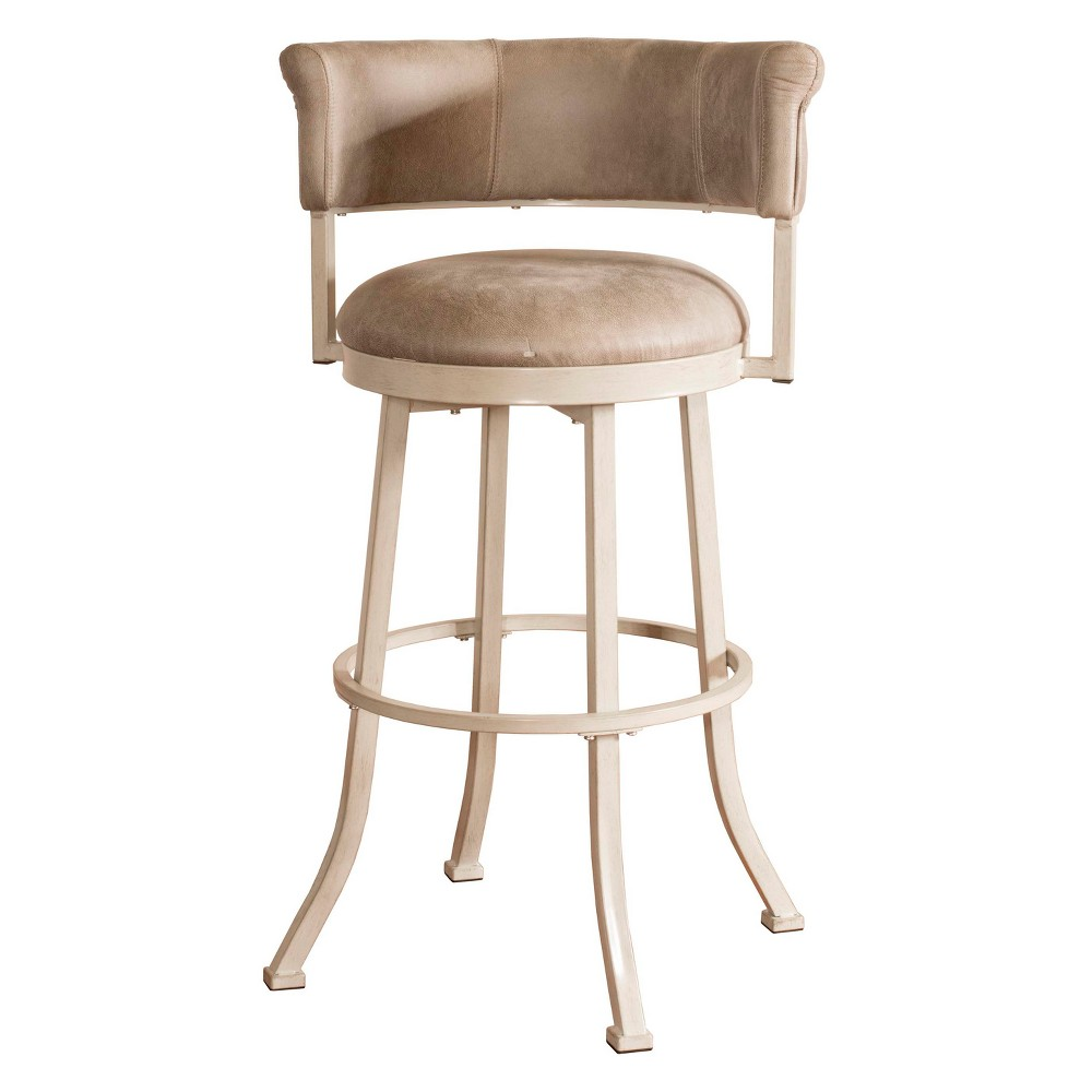 30 Westport Swivel Counter Stool Dark Brush Ivory/Gray - Hillsdale Furniture