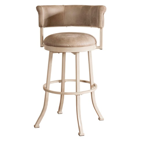 26 Westport Swivel Counter Stool Dark Brush Ivory Gray Hilale Furniture