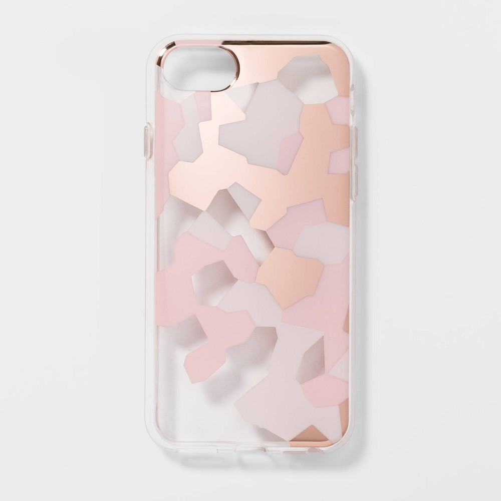 heyday Apple iPhone 8/7/6s/6 Clear Camo Print Case - Pink, Green/Pink