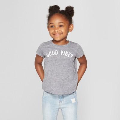 Grayson Mini Toddler Girls' Hi Low Short Sleeve T-Shirt - Gray 12M