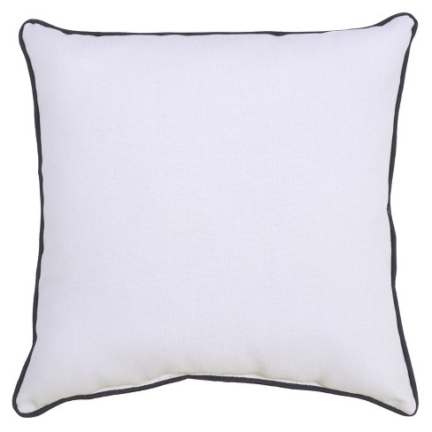 Outdoor Throw Pillow Square - Red/White - Threshold™ - image 1 of 3