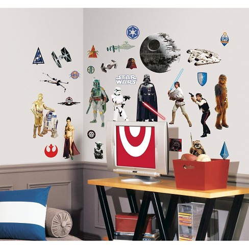 roommates star wars classic peel & stick wall decals : target