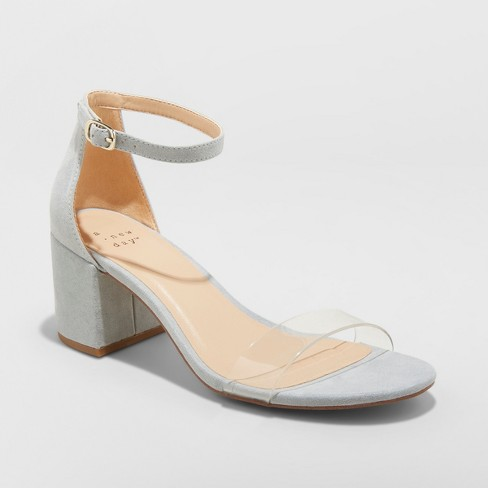 Women's Michaela Clear Acrylic Mid Block Heel Pumps - A New Day™ - image 1 of 3