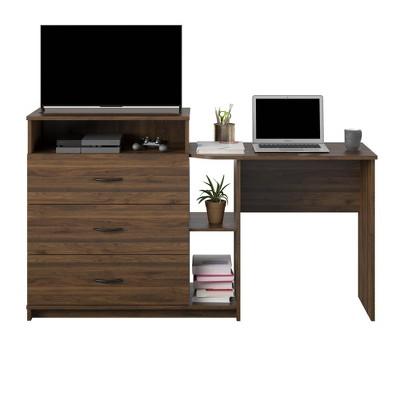 Devlin 3 in 1 Media Dresser and Desk Combo - Room & Joy