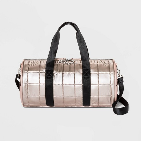 Square Quilted Heart Carabiner Weekender Bag - Wild Fable™ Rose Gold - image 1 of 3