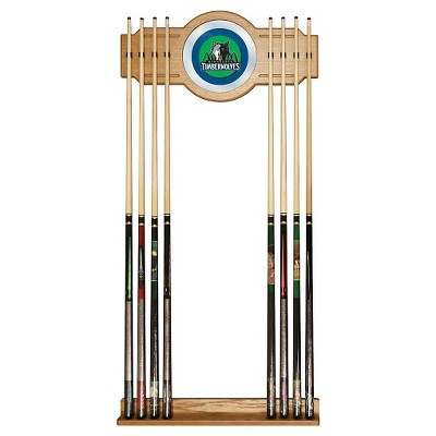 NBA Minnesota Timberwolves Billiard Cue Rack with Mirror